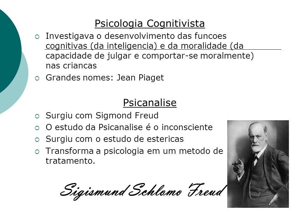 Psicologia Cognitivista Investigava o desenvolvimento das funcoes cognitivas (da inteligencia) e da moralidade (da capacidade de julgar e comportar-se