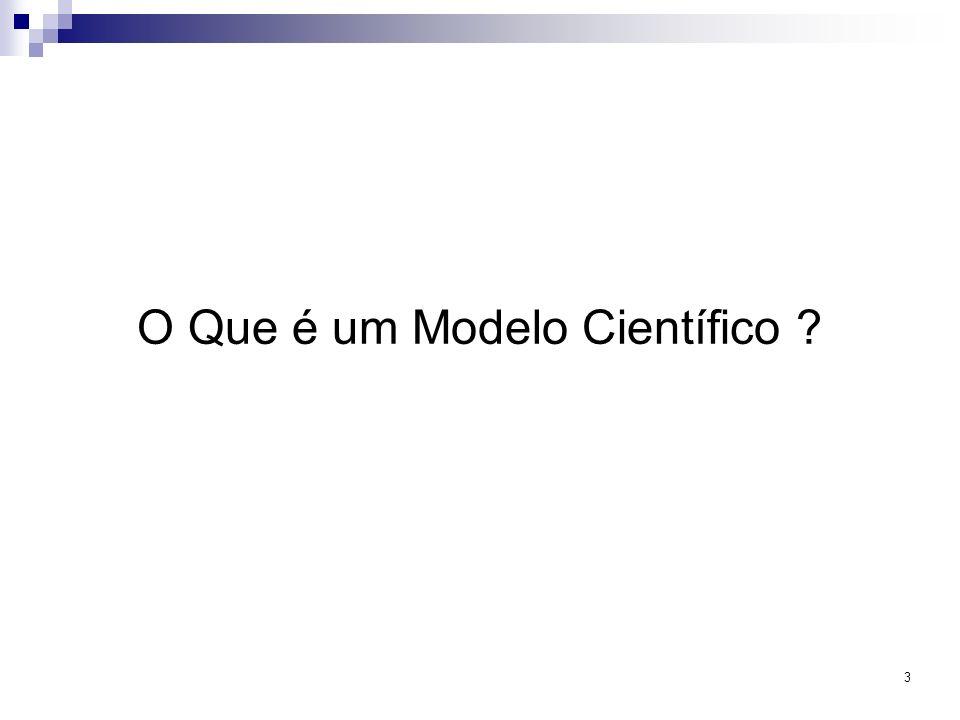 3 O Que é um Modelo Científico ?