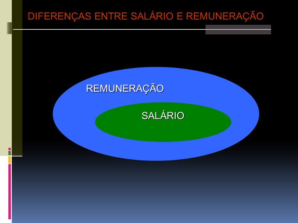 1.Remuneração Direta: 1.Remuneração Direta: Representa o total do dinheiro que a pessoa recebe em contrapartida ao trabalho.