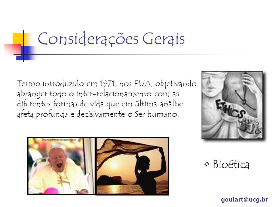 BIOLOGIA – Estudo de casos goulart@ucg.br