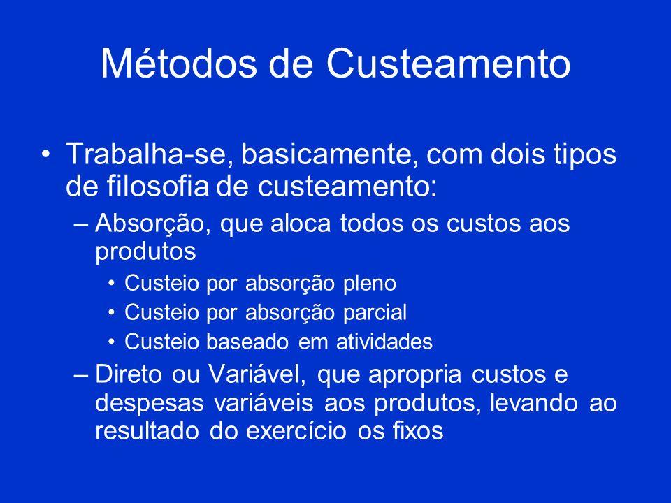 Custo-Volume-Lucro Relação que compara o volume de vendas, de custos e o lucro gerado.