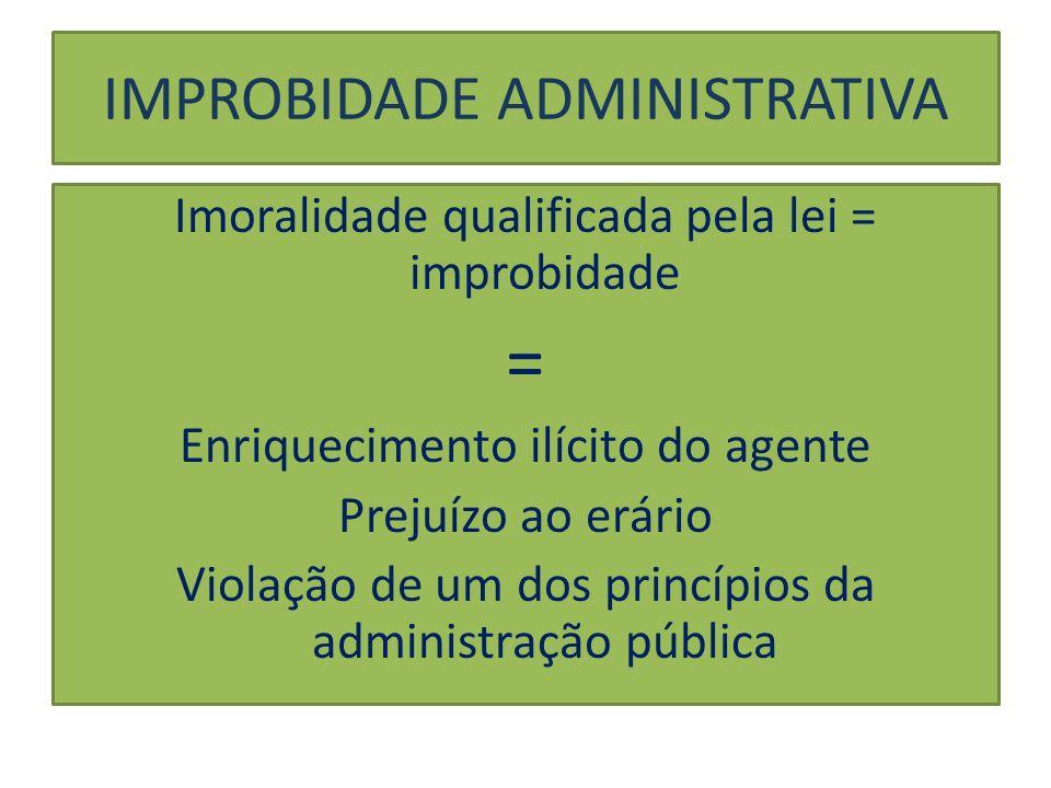 IMPROBIDADE ADMINISTRATIVA SANÇÕES APLICÁVEIS (ART.