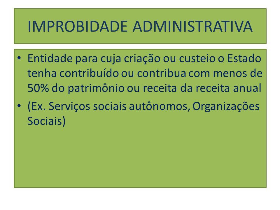 IMPROBIDADE ADMINISTRATIVA Sujeito Ativo (art.2.