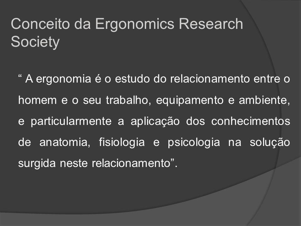 A ergonomia é o estudo científico da relação entre o homem e seus meios, métodos e espaços de trabalho.