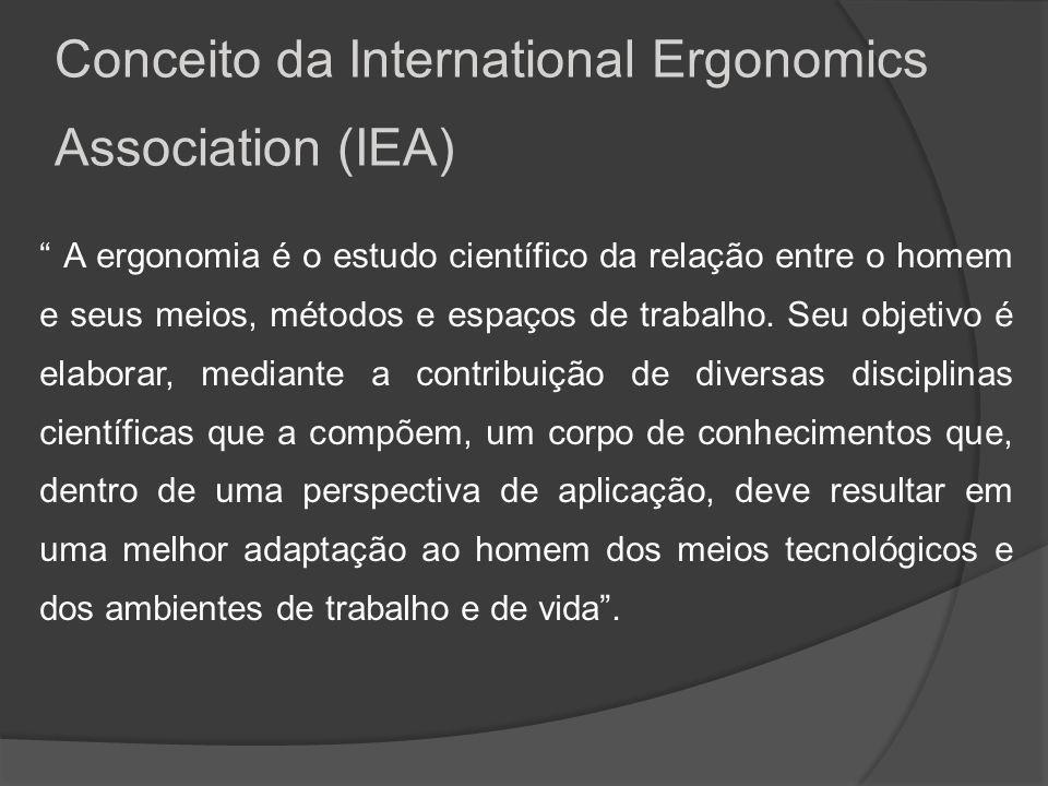 A ergonomia é o estudo da adaptação do trabalho às características fisiológicas e psicológicas do ser humano.