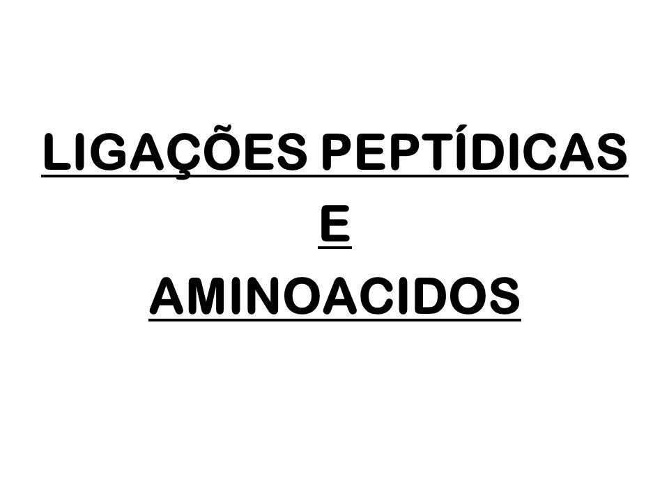 Proteínas podem ser definidas como polímeros compostos de n unidades monoméricas, os aminoácidos, ligados entre si por ligações peptídicas A ligação peptídica ocorre entre o grupo -carboxila de um aminoácido e o grupo -amino de outro aminoácido.