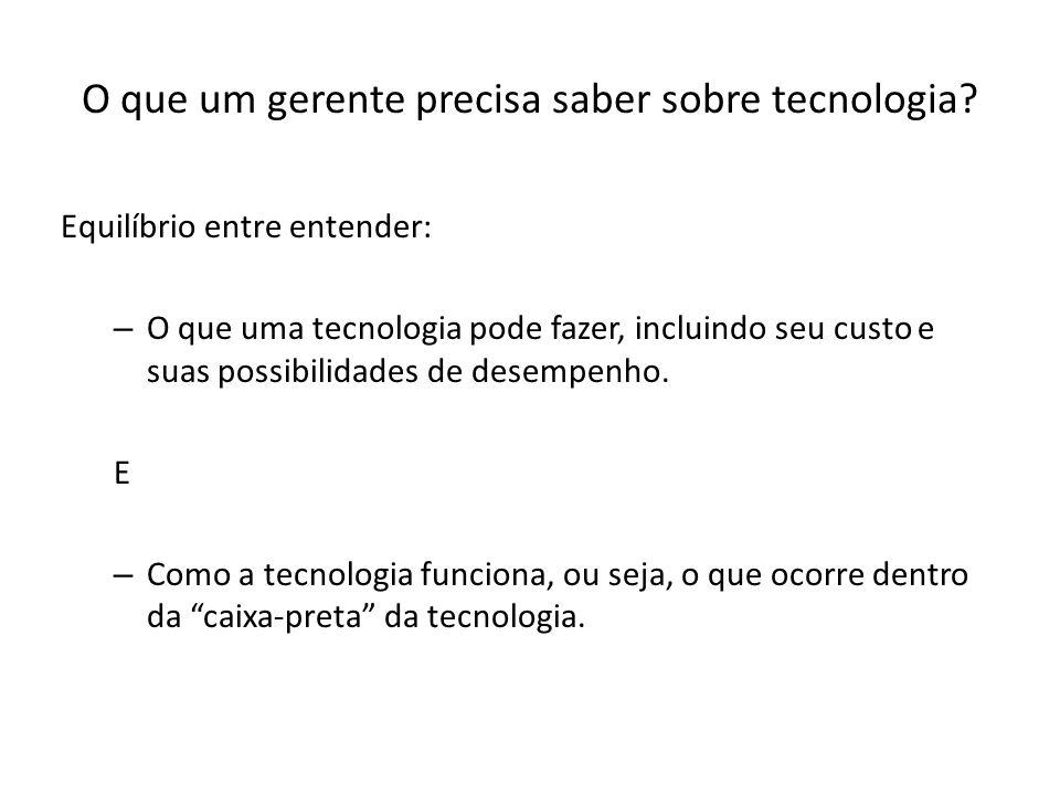 O que um gerente precisa saber sobre tecnologia.