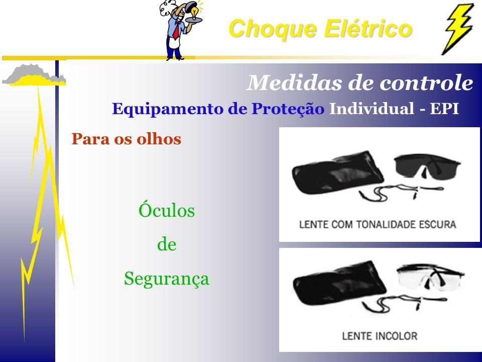 Choque Elétrico Para os olhos Óculos de Segurança Medidas de controle Equipamento de Proteção Individual - EPI