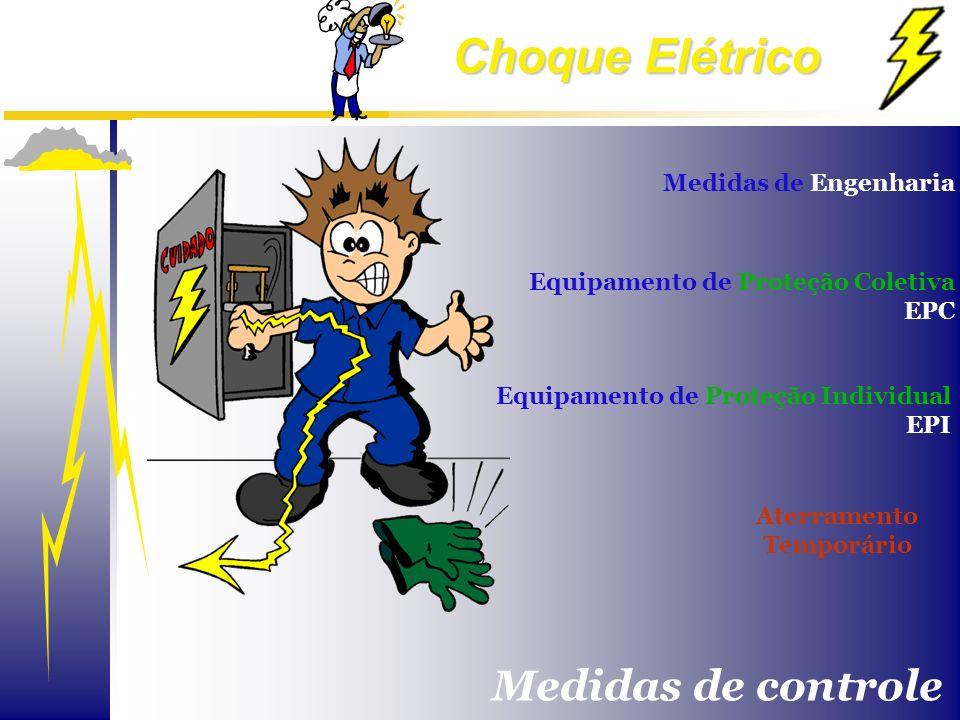 Choque Elétrico Equipamento de Proteção Individual EPI Equipamento de Proteção Coletiva EPC Aterramento Temporário Medidas de Engenharia Medidas de co