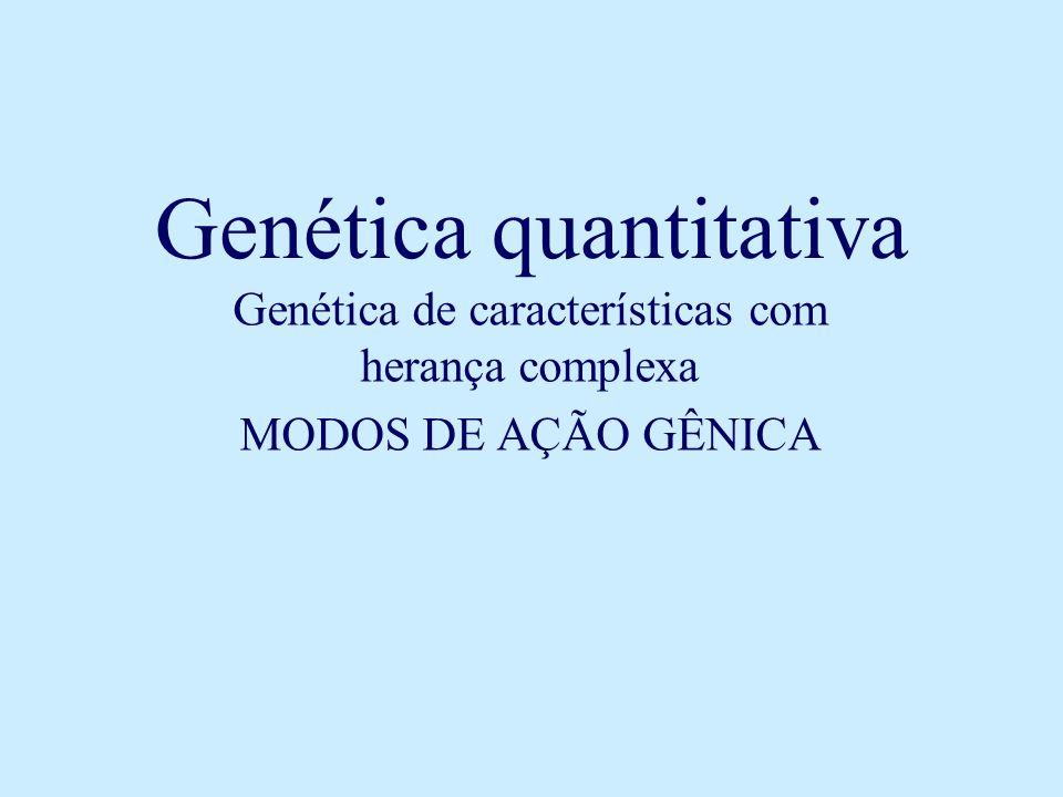Genética quantitativa Genética de características com herança complexa MODOS DE AÇÃO GÊNICA