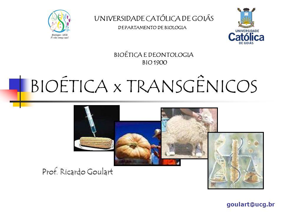 Regulamentação CNTBio Comissão Técnica Nacional de Biossegurança ONGs goulart@ucg.br