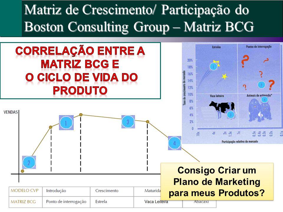 Matriz de Crescimento/ Participação do Boston Consulting Group – Matriz BCG Consigo Criar um Plano de Marketing para meus Produtos?