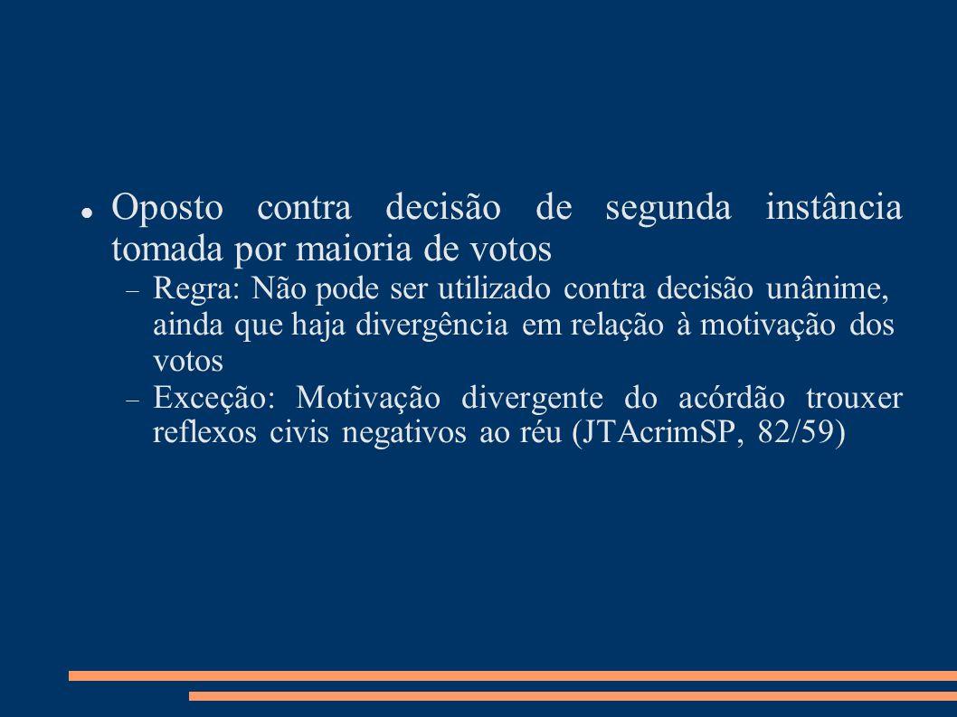 Cabimento Divergência na votação Acórdãos impugnáveis Recurso em sentido estrito Apelação Agravo em Execução (posição minoritária da doutrina)