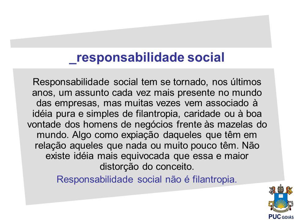 Responsabilidade social tem se tornado, nos últimos anos, um assunto cada vez mais presente no mundo das empresas, mas muitas vezes vem associado à id