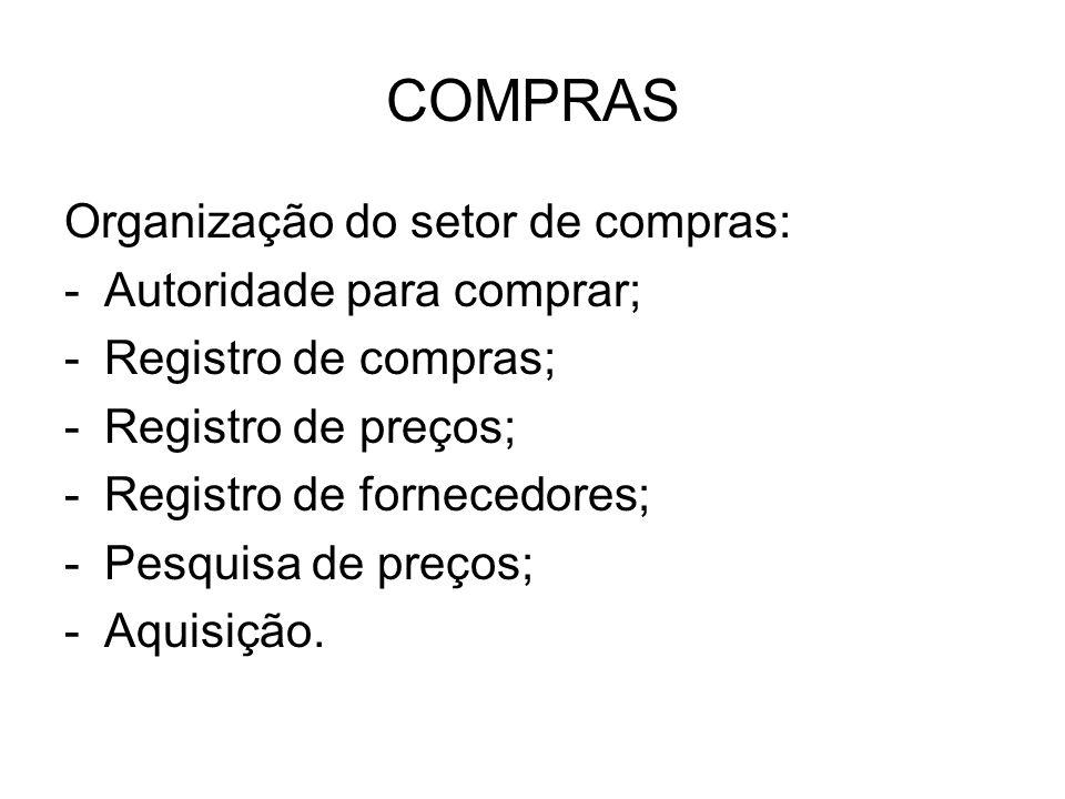 COMPRAS NOVAS FORMAS DE COMPRAR a)Compras globalizadas (global sourcing) b)b)EDI (electronicdata interchange).