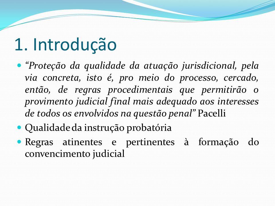 1. Introdução Proteção da qualidade da atuação jurisdicional, pela via concreta, isto é, pro meio do processo, cercado, então, de regras procedimentai