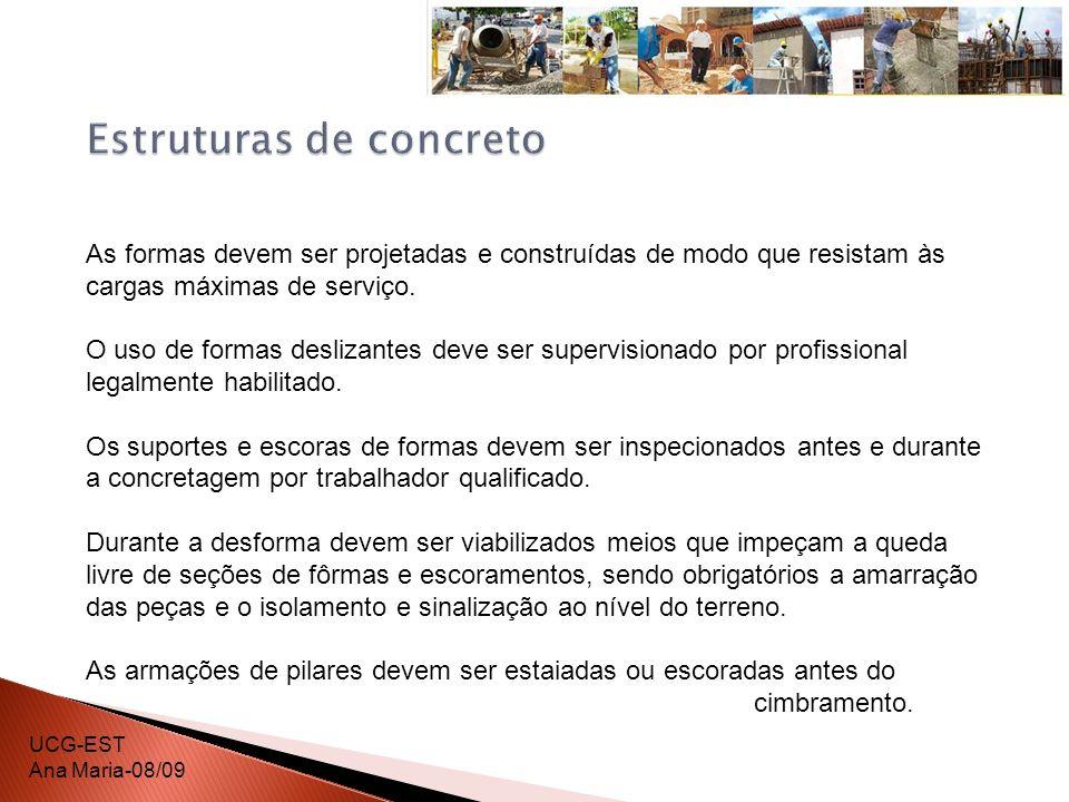 Durante as operações de protensão de cabos de aço, é proibida a permanência de trabalhadores atrás dos macacos ou sobre estes, ou outros dispositivos de protensão, devendo a área ser isolada e sinalizada.