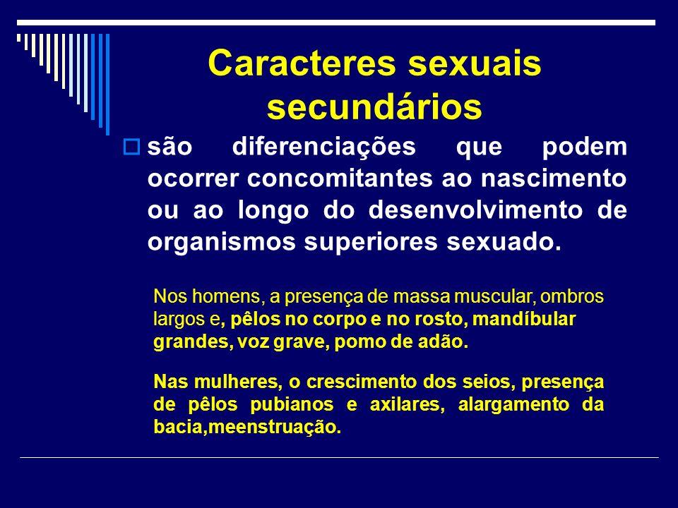 Caracteres sexuais secundários são diferenciações que podem ocorrer concomitantes ao nascimento ou ao longo do desenvolvimento de organismos superiores sexuado.