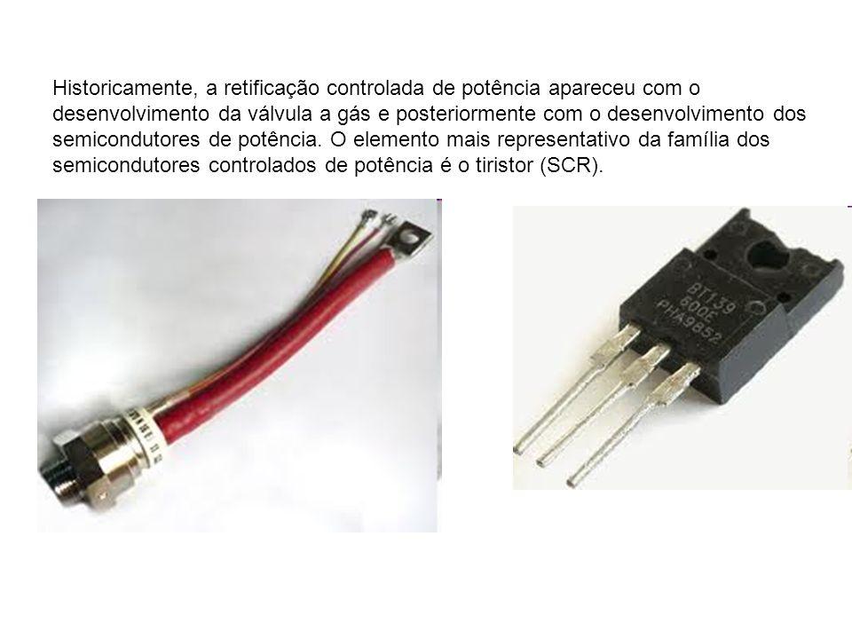 Historicamente, a retificação controlada de potência apareceu com o desenvolvimento da válvula a gás e posteriormente com o desenvolvimento dos semico