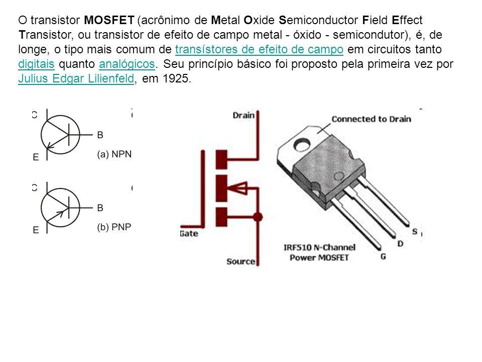 O transistor MOSFET (acrônimo de Metal Oxide Semiconductor Field Effect Transistor, ou transistor de efeito de campo metal - óxido - semicondutor), é,