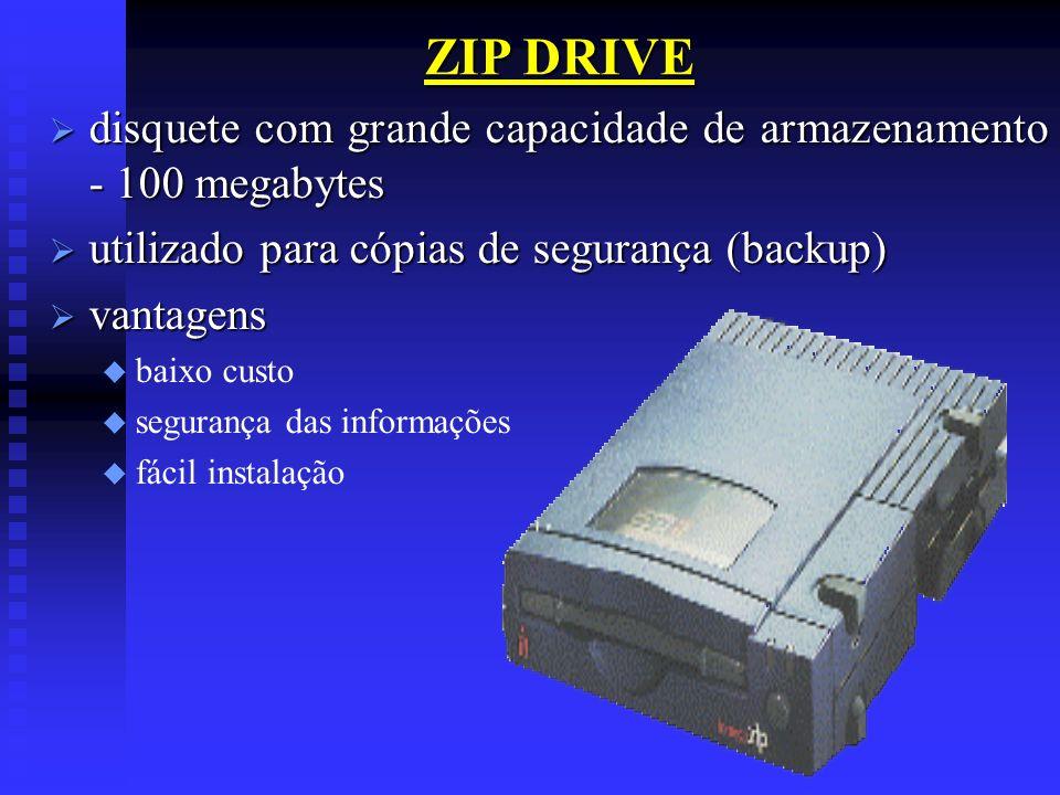 ZIP DRIVE disquete com grande capacidade de armazenamento - 100 megabytes disquete com grande capacidade de armazenamento - 100 megabytes utilizado pa
