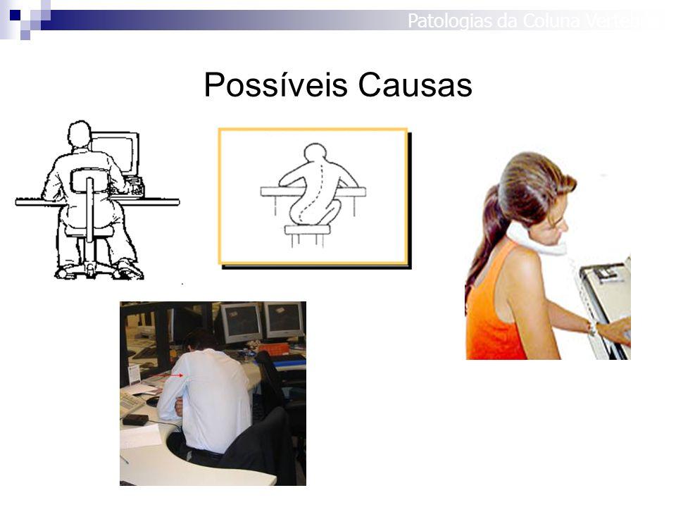 Possíveis Causas Patologias da Coluna Vertebral