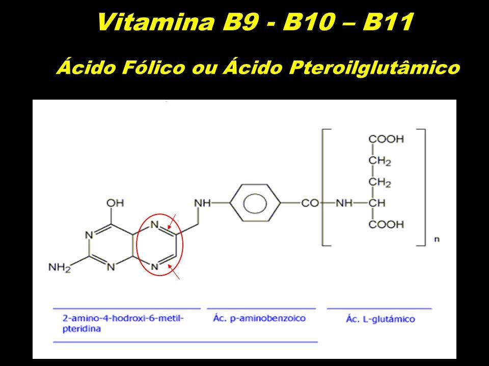 Vitamina B9 - B10 – B11 Ácido Fólico ou Ácido Pteroilglutâmico
