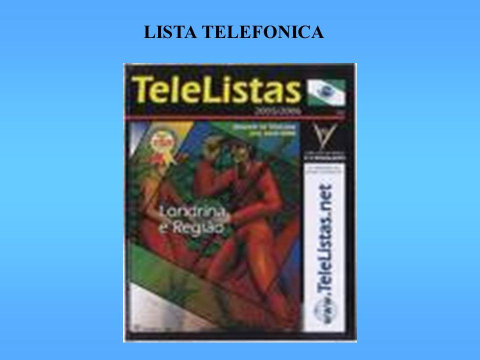 LISTA TELEFONICA