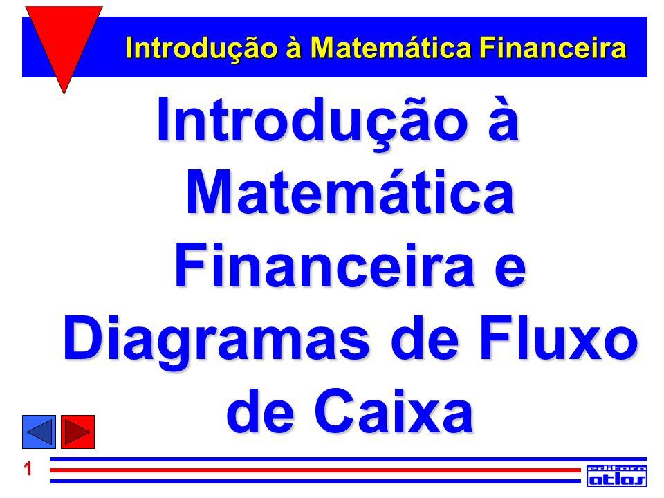 1 Introdução à Matemática Financeira Introdução à Matemática Financeira e Diagramas de Fluxo de Caixa
