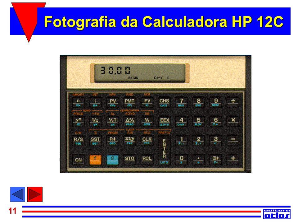 11 Fotografia da Calculadora HP 12C