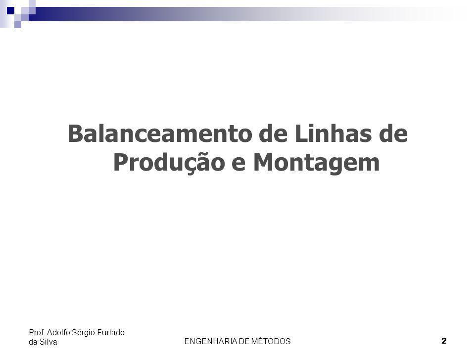 2 Prof. Adolfo Sérgio Furtado da Silva Balanceamento de Linhas de Produção e Montagem