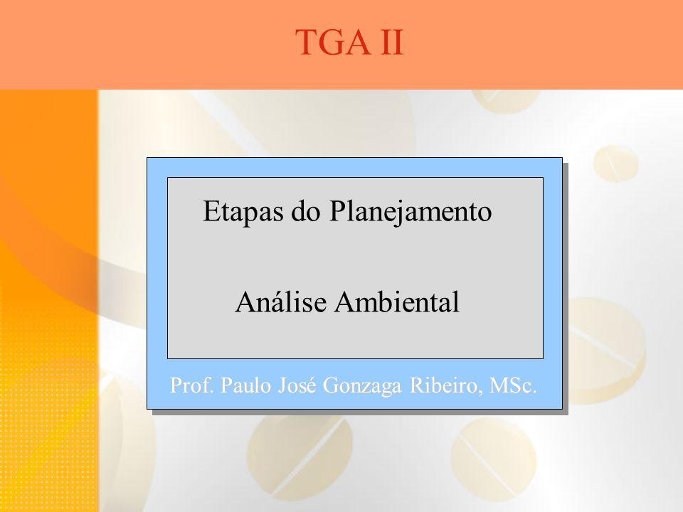 Etapas do Planejamento Análise Ambiental TGA II Prof. Paulo José Gonzaga Ribeiro, MSc.