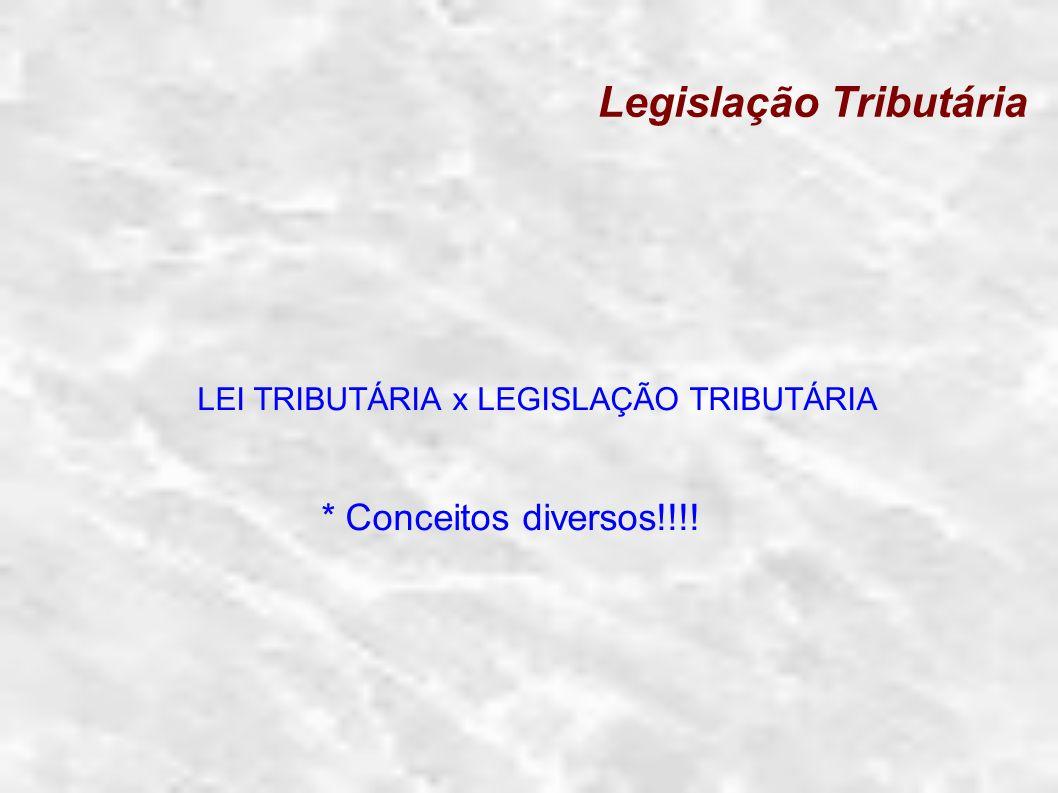 Legislação Tributária Lei em sentido formal: É o ato jurídico produzido pelo Poder Legislativo, nos termos da constituição.