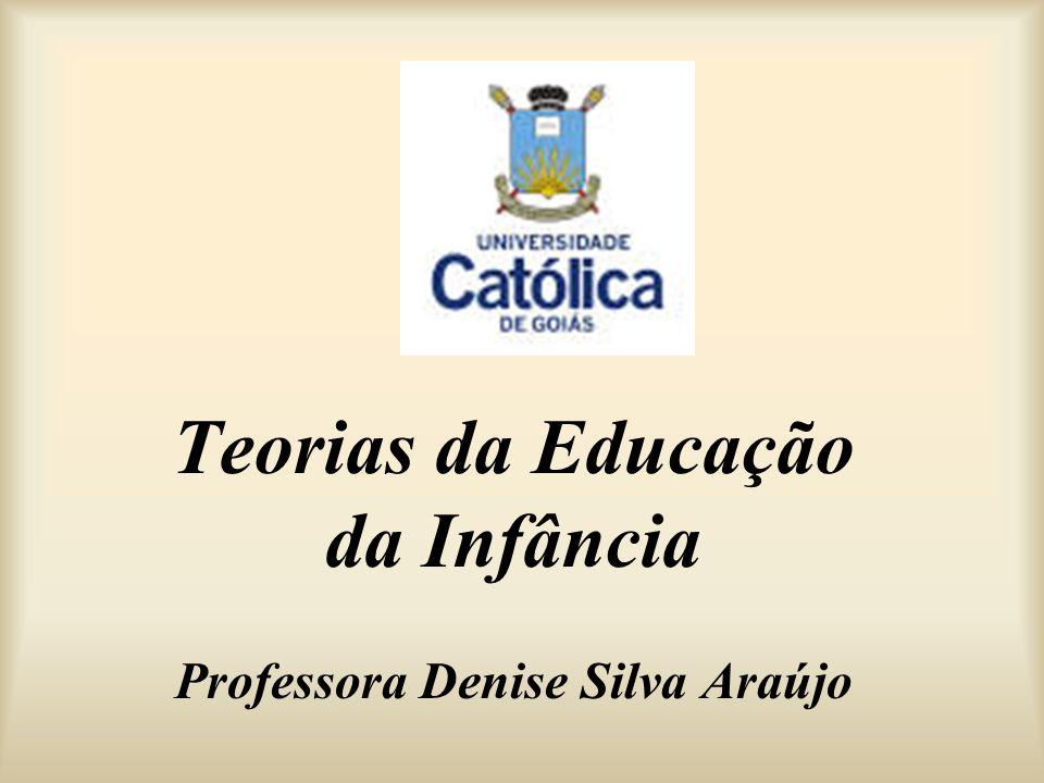 Teorias da Educação da Infância Professora Denise Silva Araújo