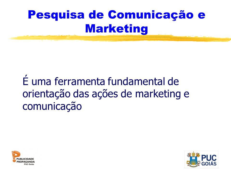 Pesquisa de Comunicação e Marketing É uma ferramenta fundamental de orientação das ações de marketing e comunicação