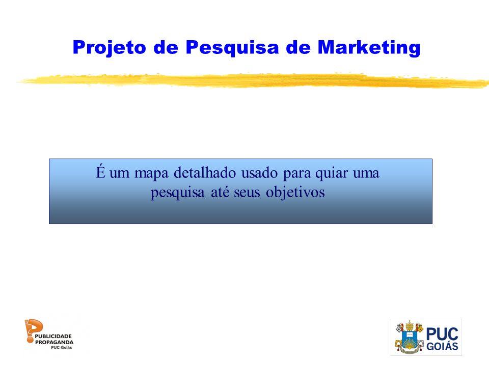 Projeto de Pesquisa de Marketing É um mapa detalhado usado para quiar uma pesquisa até seus objetivos