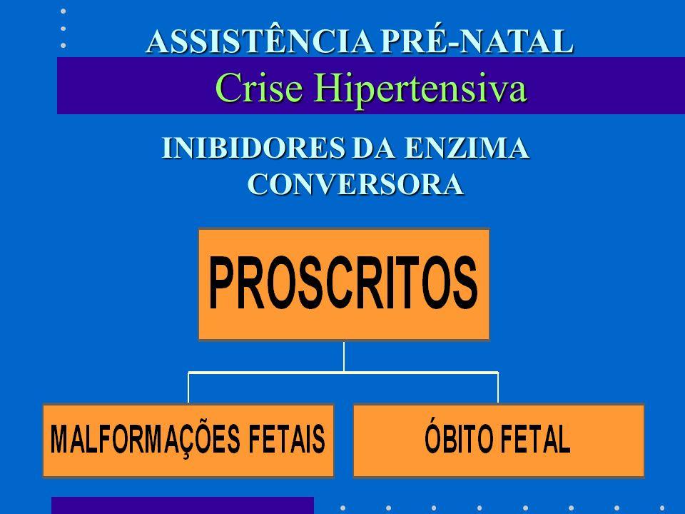INIBIDORES DA ENZIMA CONVERSORA INIBIDORES DA ENZIMA CONVERSORA Crise Hipertensiva ASSISTÊNCIA PRÉ-NATAL