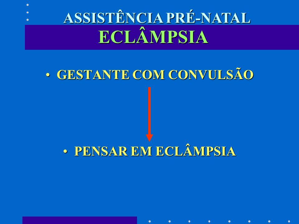 ECLÂMPSIA GESTANTE COM CONVULSÃOGESTANTE COM CONVULSÃO PENSAR EM ECLÂMPSIAPENSAR EM ECLÂMPSIA ASSISTÊNCIA PRÉ-NATAL