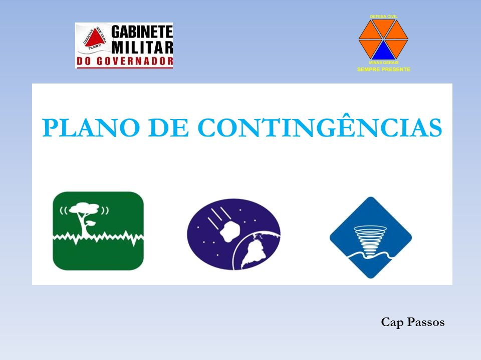 PLANO DE CONTINGÊNCIAS Cap Passos