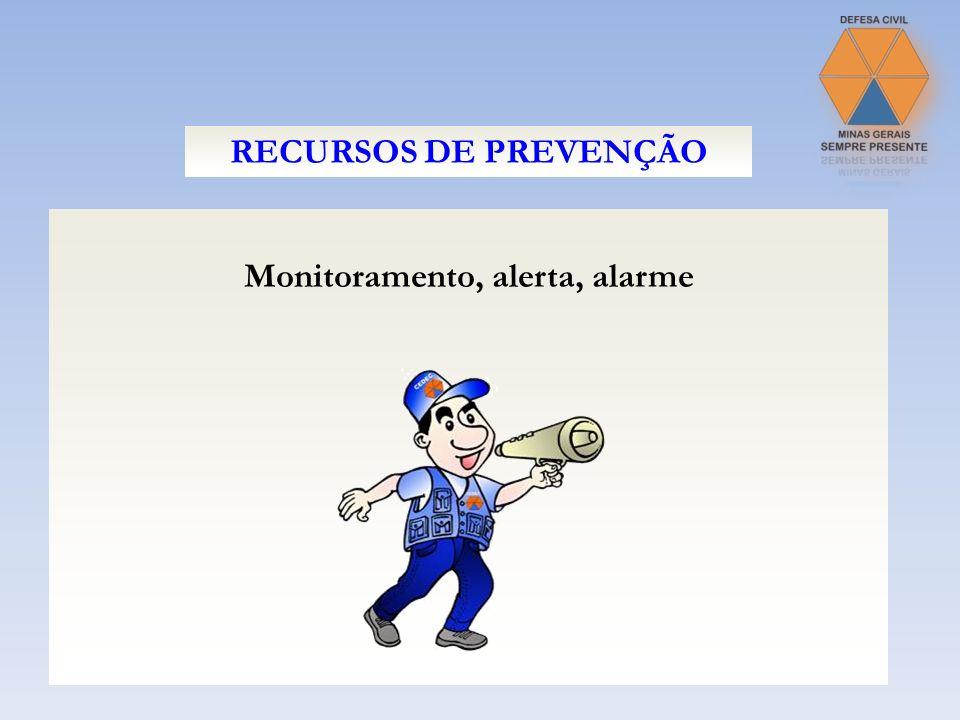 Monitoramento, alerta, alarme RECURSOS DE PREVENÇÃO