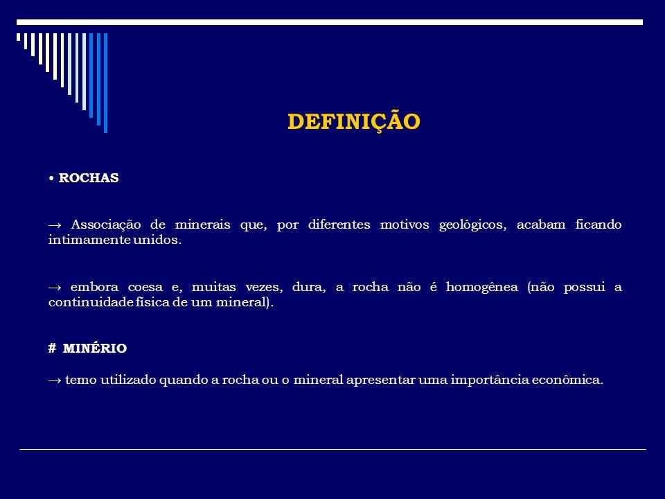 DEFINIÇÃO MINERAIS...