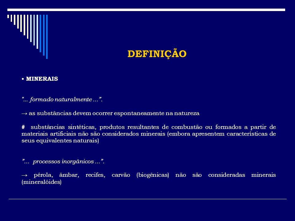 IDENTIFICAÇÃO DOS MINERAIS 7.