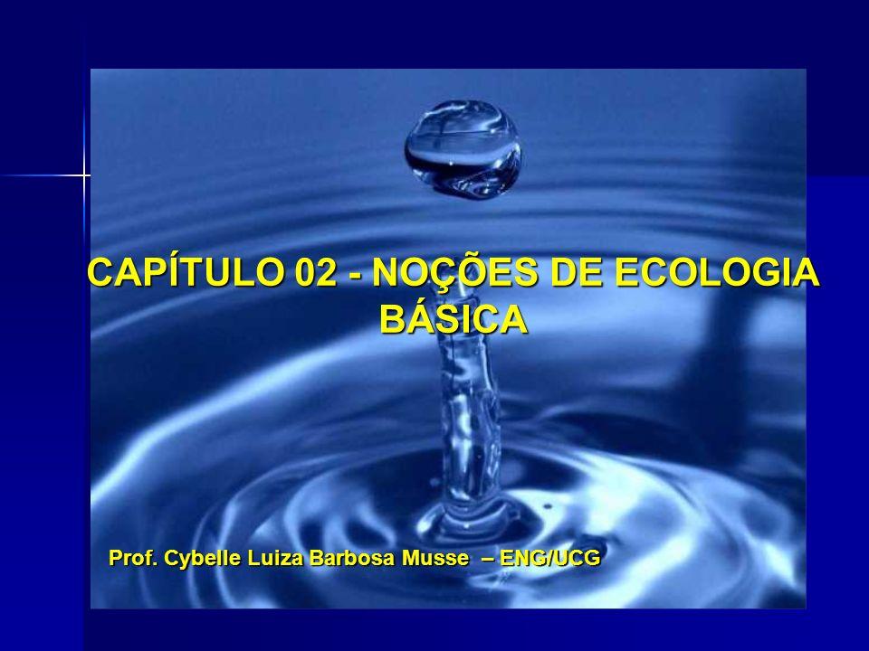 CAPÍTULO 02 - NOÇÕES DE ECOLOGIA BÁSICA Prof. Cybelle Luiza Barbosa Musse – ENG/UCG