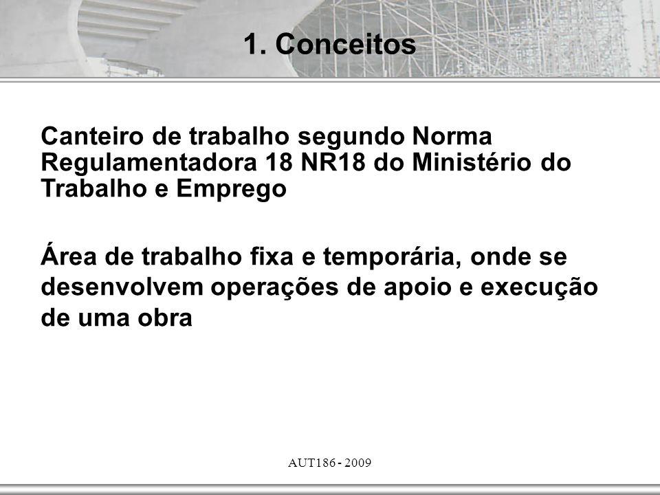 AUT186 - 2009 4.Segurança e Saúde do Trabalhador NR18 – Norma Regulamentadora 18.1.1.