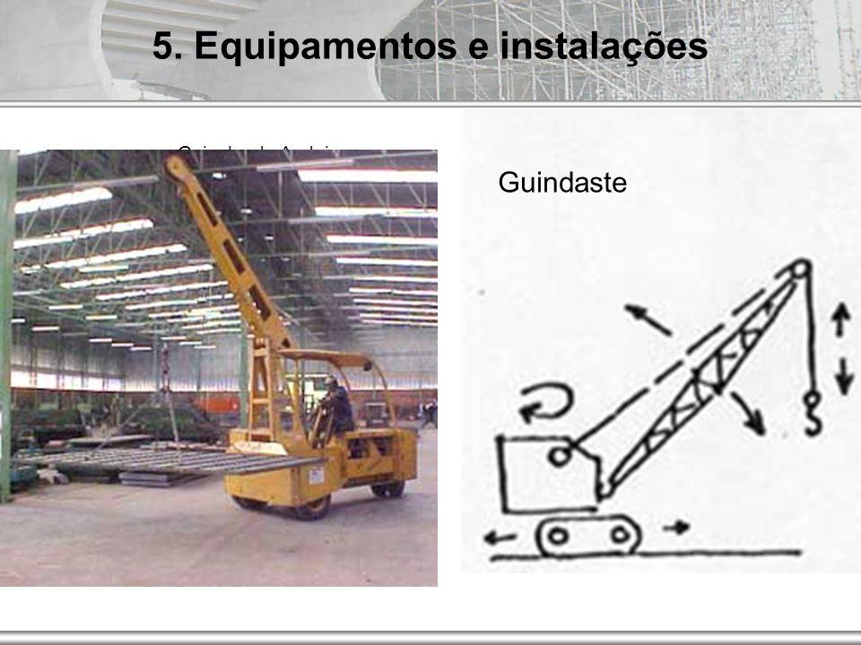 AUT186 - 2009 Guindaste móvel de lança e cabo Guincho de Andaimes 5. Equipamentos e instalações Guindaste