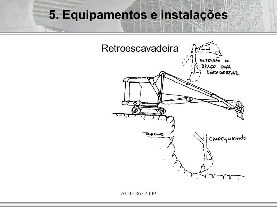 AUT186 - 2009 5. Equipamentos e instalações Retroescavadeira