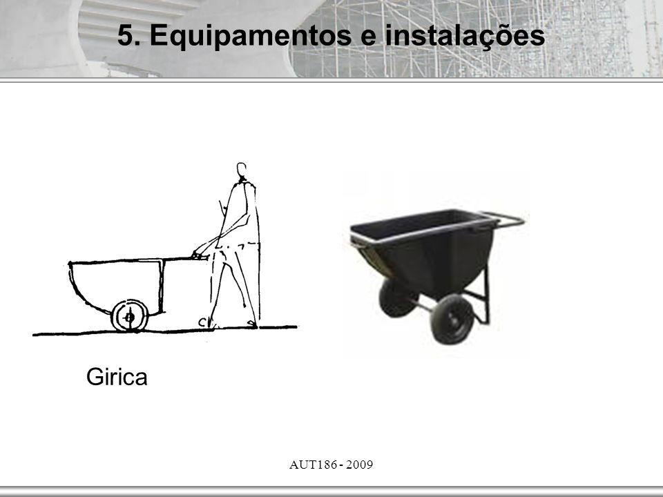 AUT186 - 2009 5. Equipamentos e instalações Girica