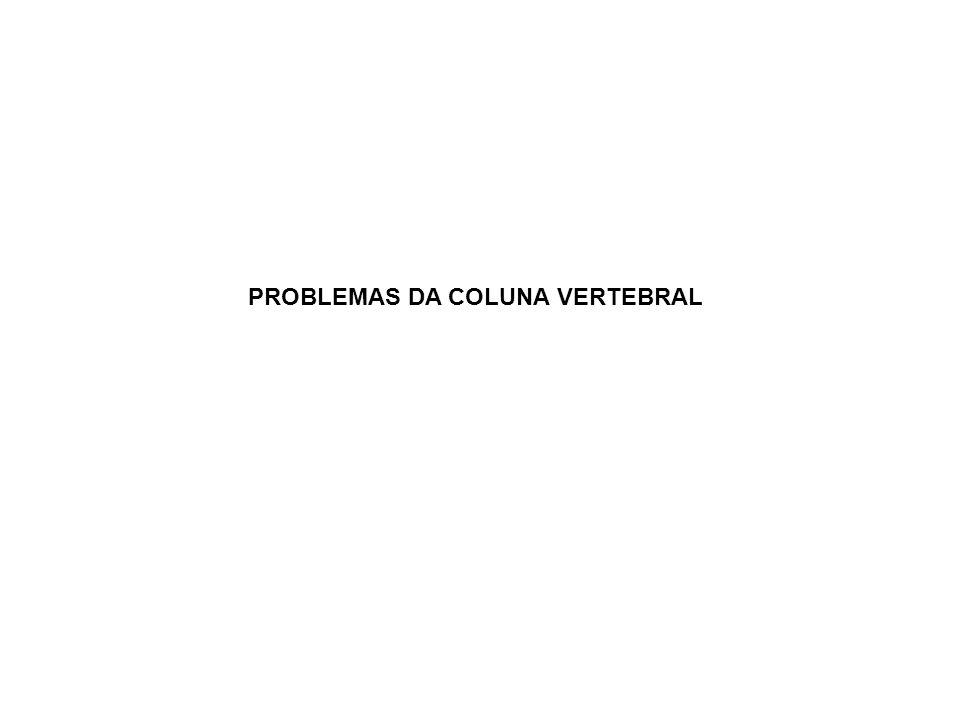 PROBLEMAS DA COLUNA VERTEBRAL