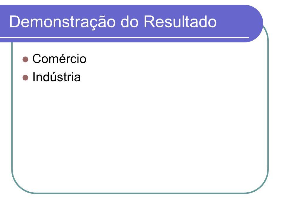 Demonstração do Resultado Comércio Indústria