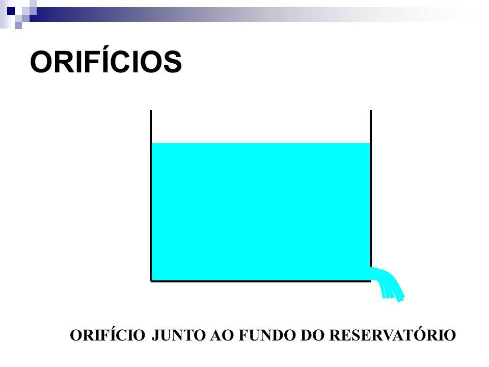 ORIFÍCIOS ORIFÍCIO JUNTO AO FUNDO DO RESERVATÓRIO